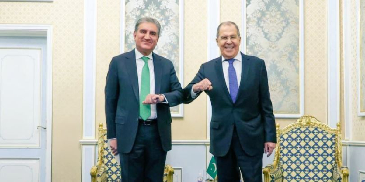 Foreign Minister Qureshi meets Russian Counterpart