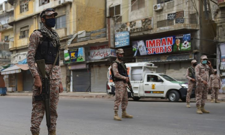 pakistan army on corona lockdown