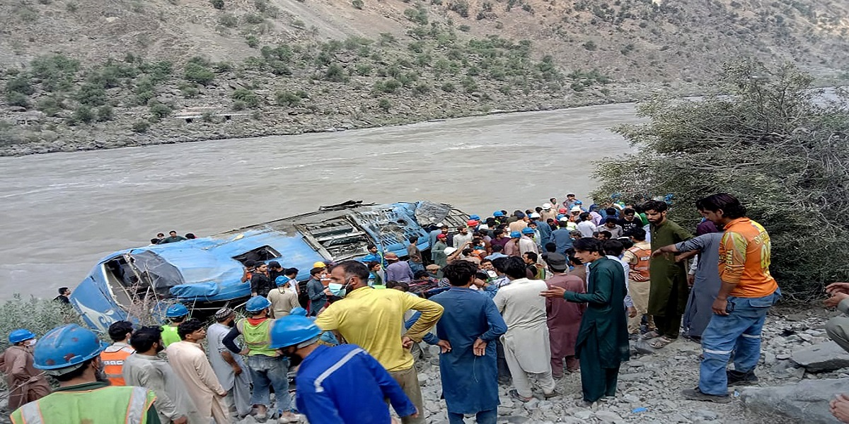 Dasu hydropower plant bus explosion killed 13 people