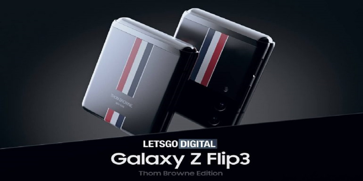 Galaxy Z Flip 3 Thom Browne Concept Images Revealed