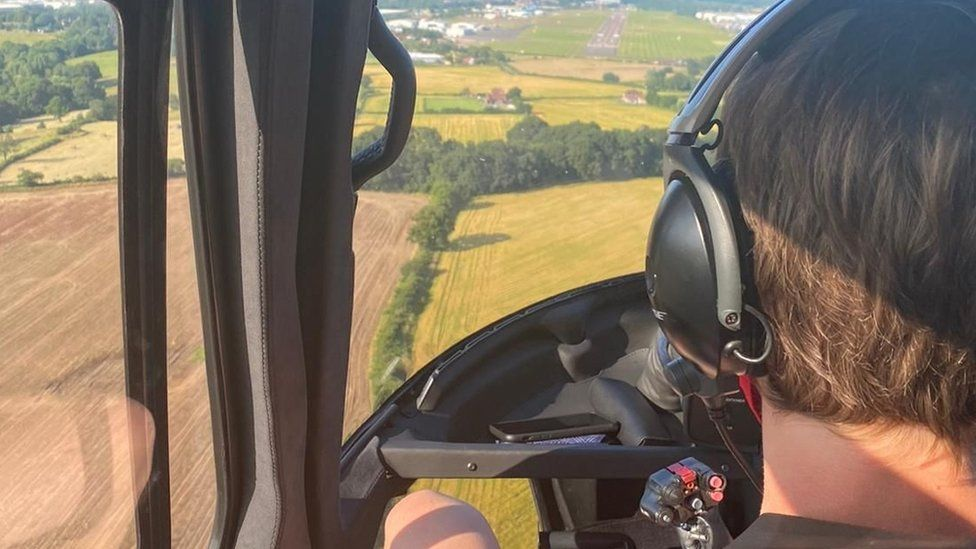 Alison Webb's children and their friends got a free ride in Tom Cruise's helicopter