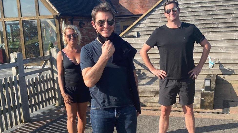Tom Cruise's helicopter landed in Alison Webb's garden