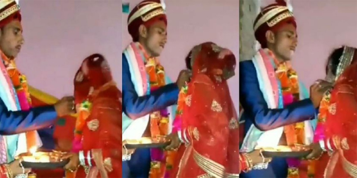 Groom Forcibly Shoves Ladoo Into Bride's Mouth, People Say 'This is Abuse'