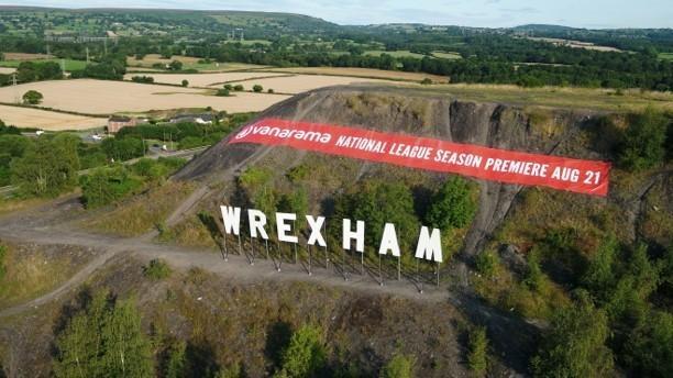 Wrexham's Hollywood-style sign