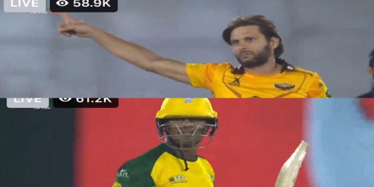 Shahid Afridi fined for rude behavior in KPL 2021 Final