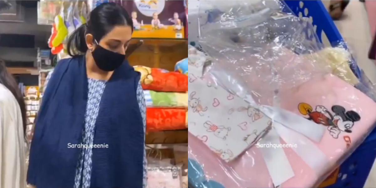 Sarah Khan baby's shopping
