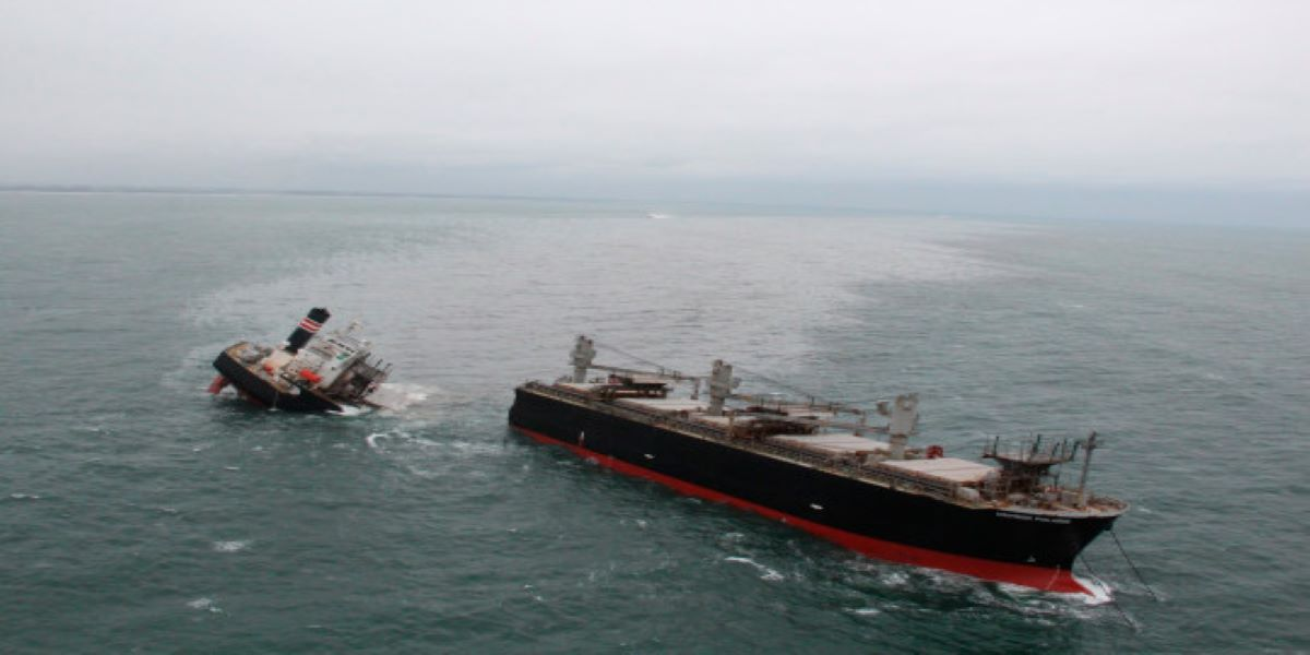 Cargo ship has broken in two off the coast of Japan