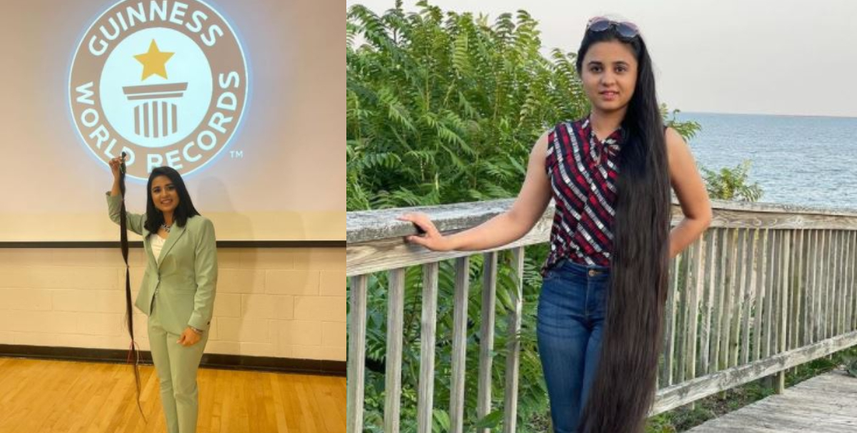 Guinness World Record woman donates 6 feet hair