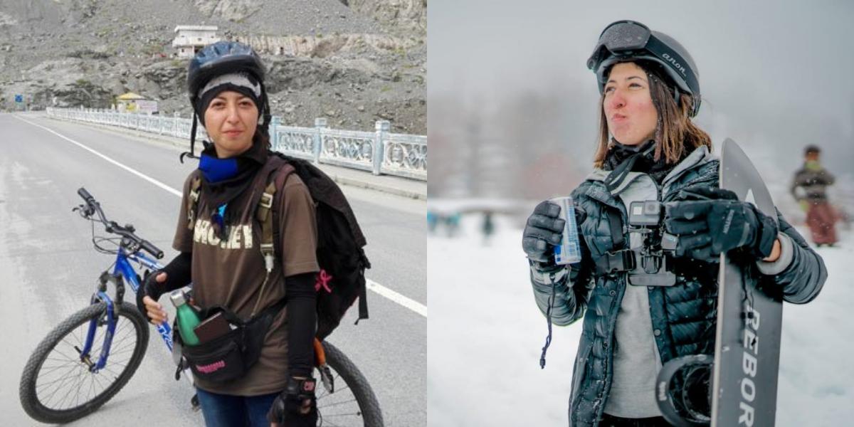 Samar khan reach K2 base camp on cycle