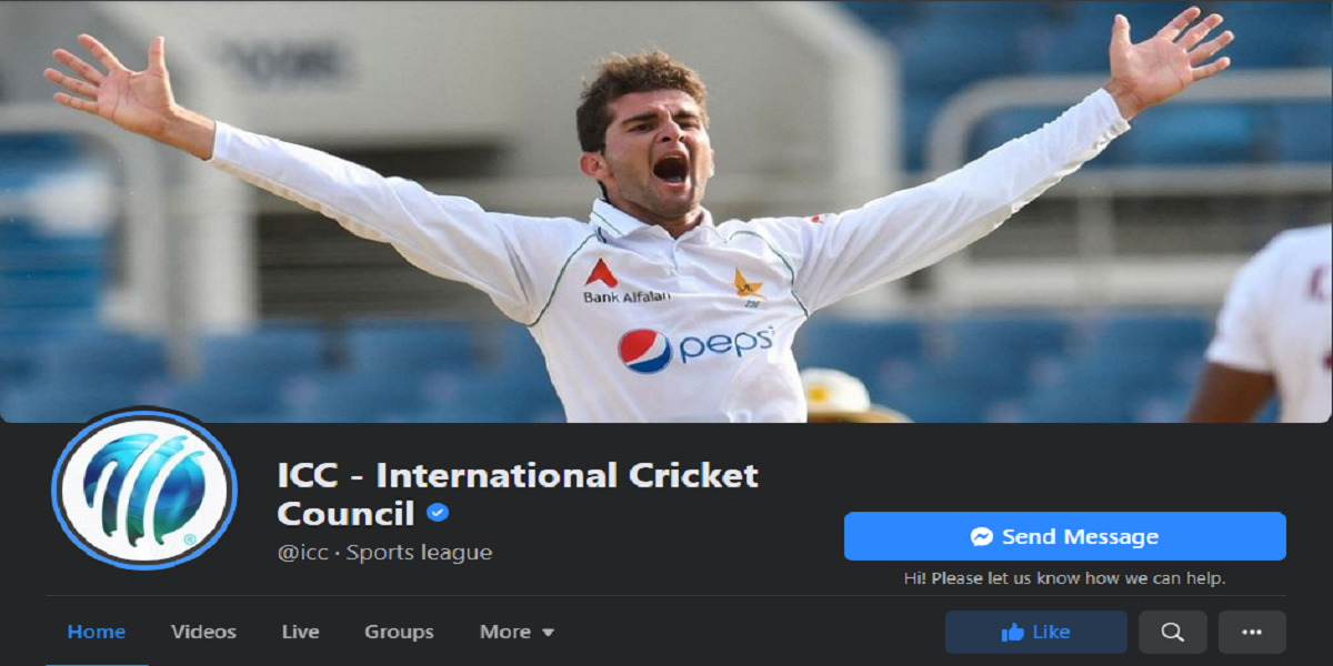 ICC updates its Facebook cover photo after Pakistan wins the match