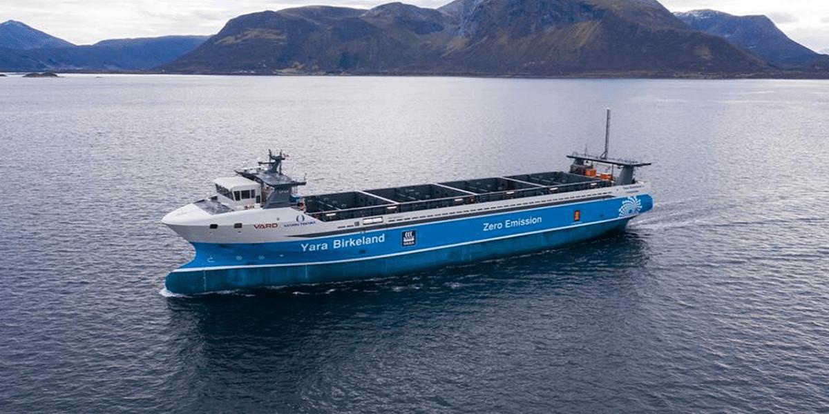 Zero-emission, crewless cargo ship begins its maiden voyage this year