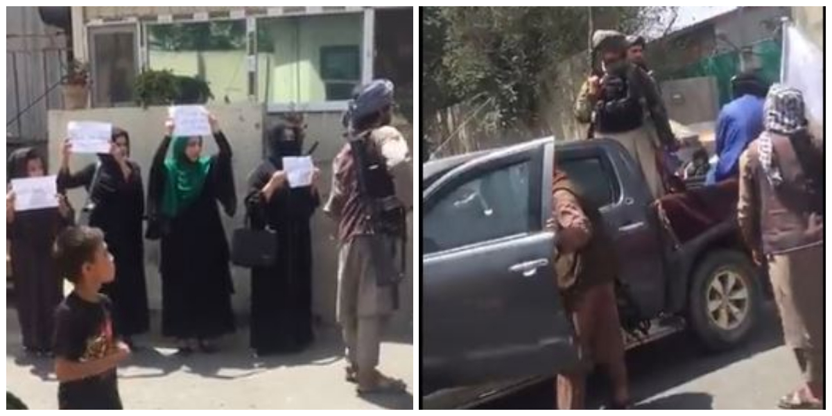 Kabul: Women protest for their rights in front of Taliban