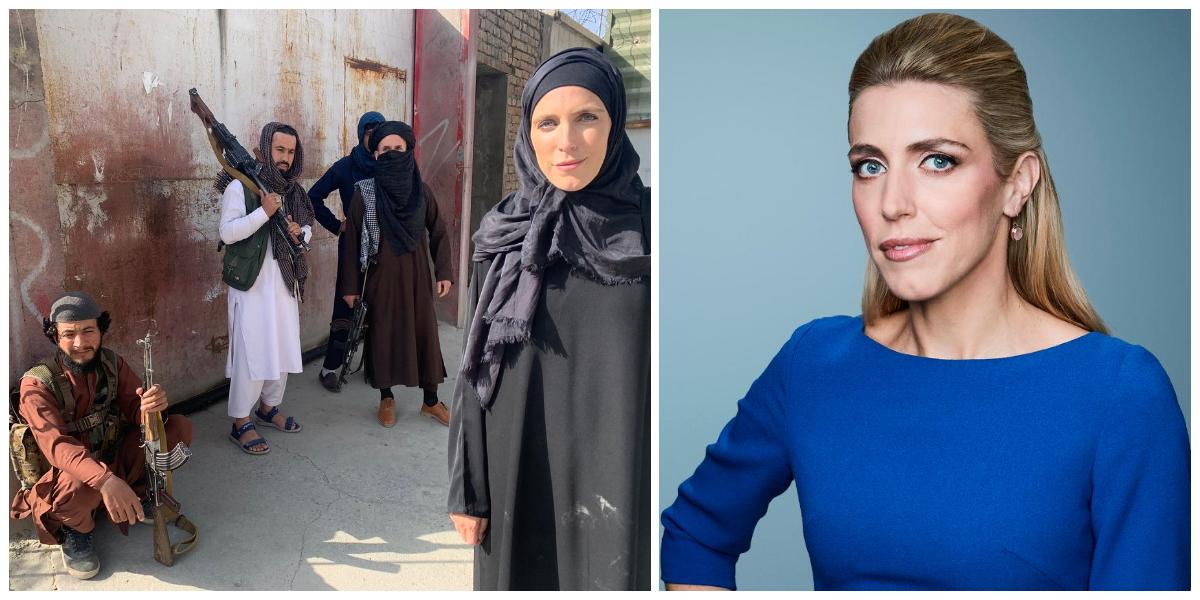 American Female reporter wears Burqa as Taliban takes full control of Afghanistan