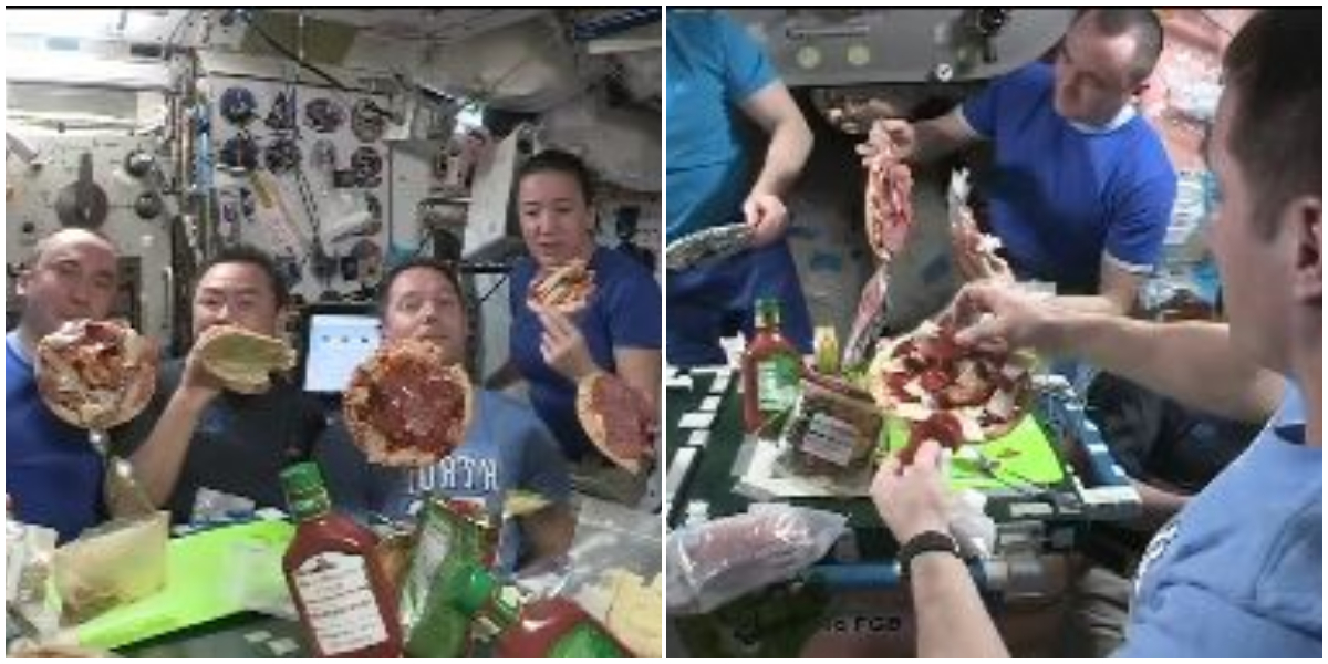 """""""Floating pizza party at space""""--- Yes, you heard it right"""