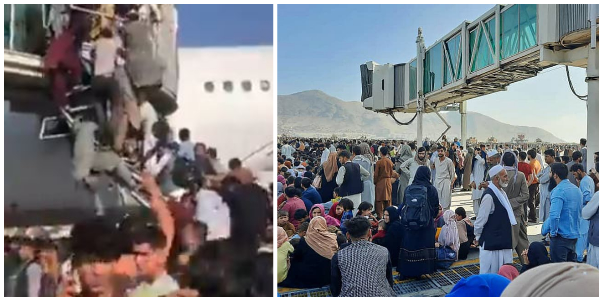 Commercial flights canceled from Kabul airport due to chaos