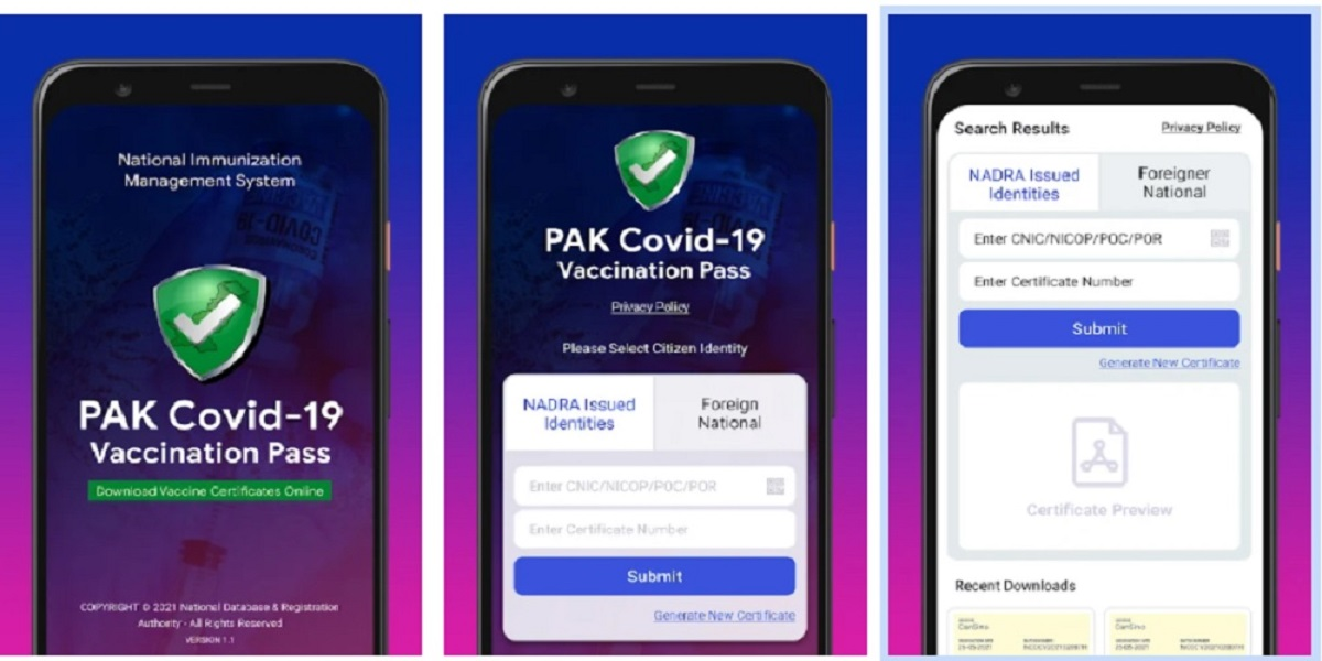 NCOC launches app to dectect fake COVID-19 vaccination certificates