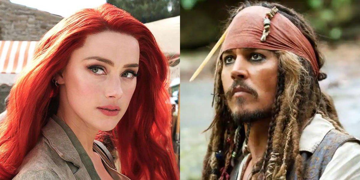 Amber Heard and Jhonny Depp