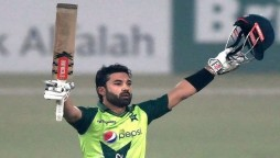 Rizwan Celebrates in Style After Historic T20I Record