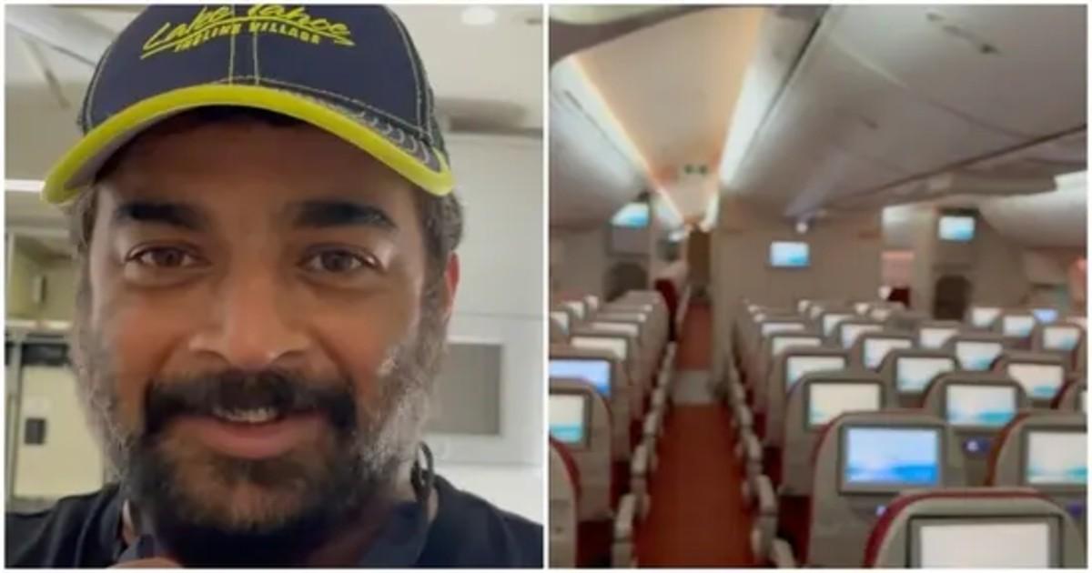 R Madhavan flies alone on an empty flight video goes viral