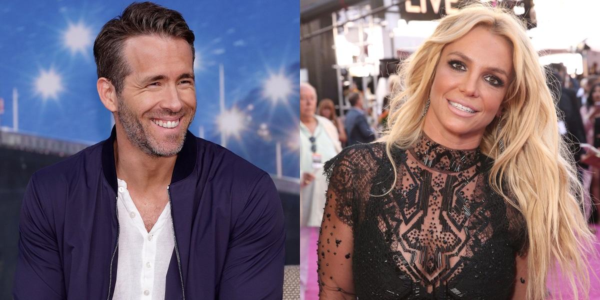 Ryan Reynolds supports pop-star Britney Spears