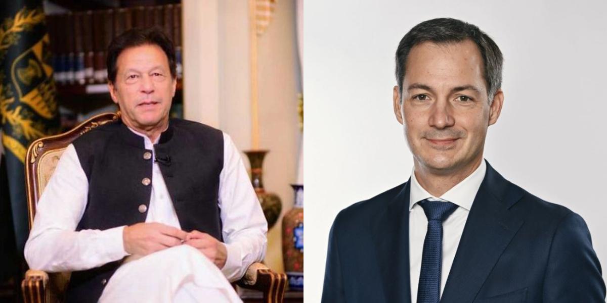 PM Imran Belgian counterpart