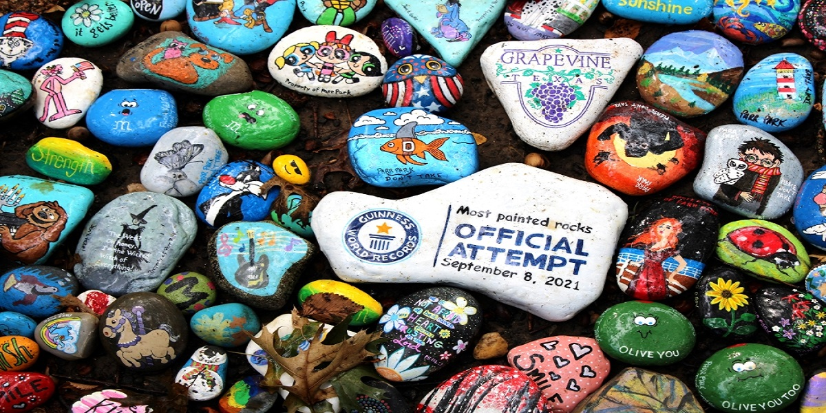 Texas: Park earns Guinness record with 24,459 painted pebbles