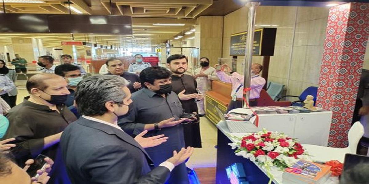 Foreign tourist facilitation center established at the Karachi airport