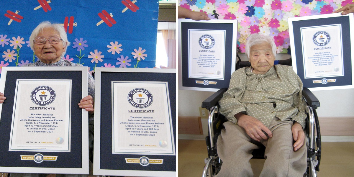 These Japanese twins are labeled as the world's oldest twins