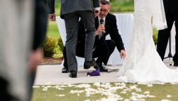 History behind why the couple stomps on a piece of glass in a Jewish wedding