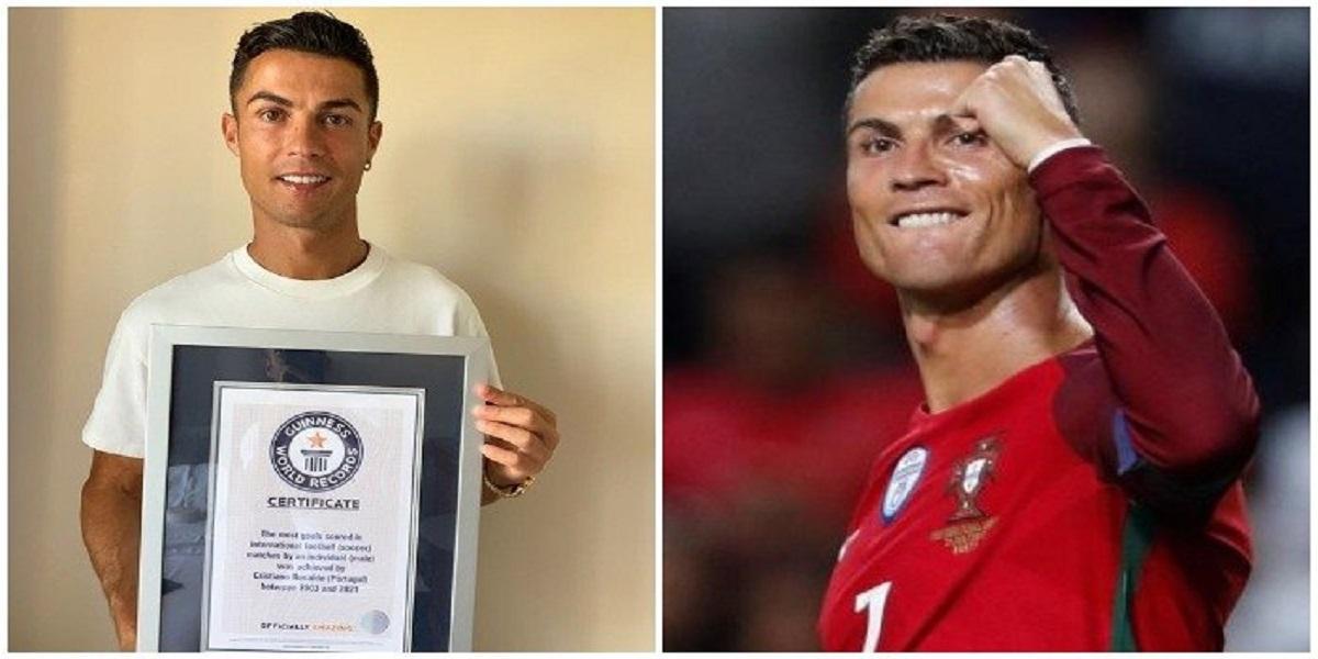 Ronaldo thanks Guinness World Records for recognising him as record breaker