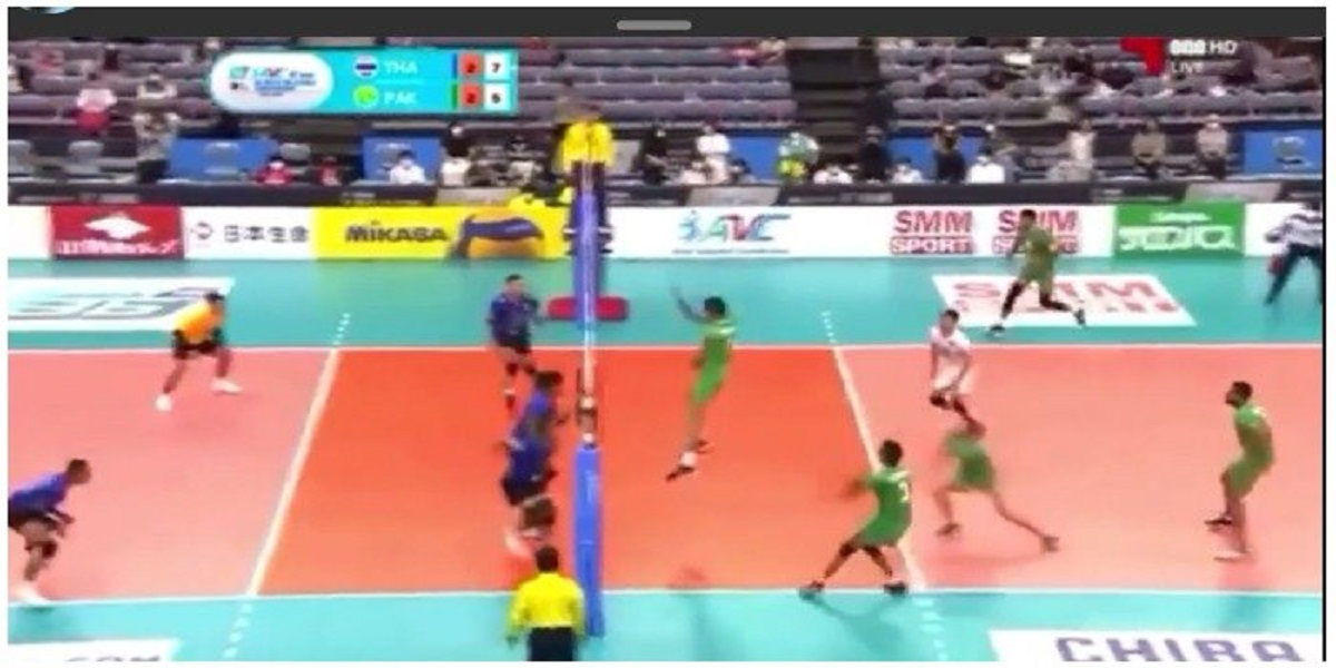 Pakistan wins 3-2 against thailand at Asian Volleyball Championship