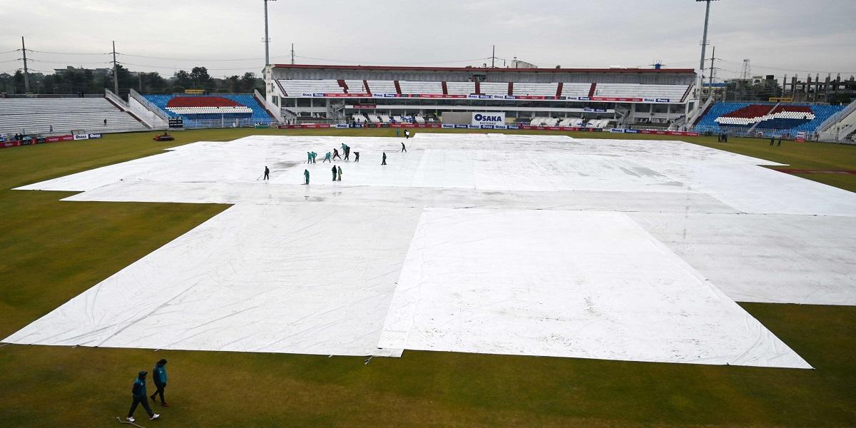 The training session called off as heavy rain hit Rawalpindi