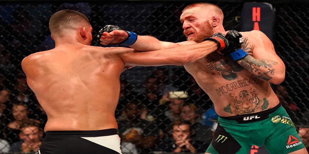 Nate Diaz vs. Conor McGregor fight on Twitter