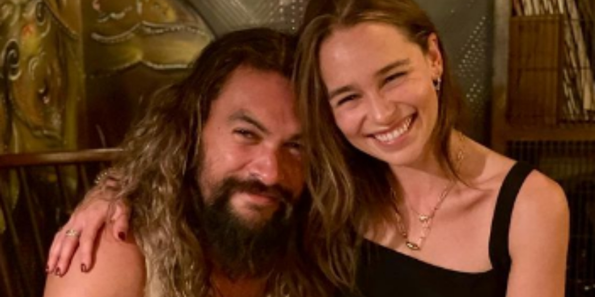 Emilia Clarke and Jason Momoa