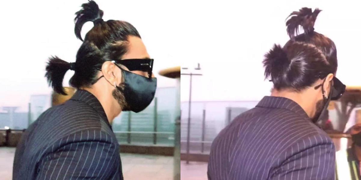 Ranveer Singh ponytail