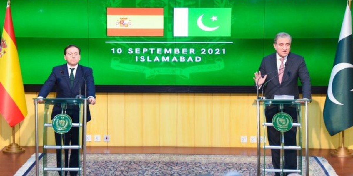 FM Qureshi, Spanish Counterpart Hold Joint Press conference In Islamabad