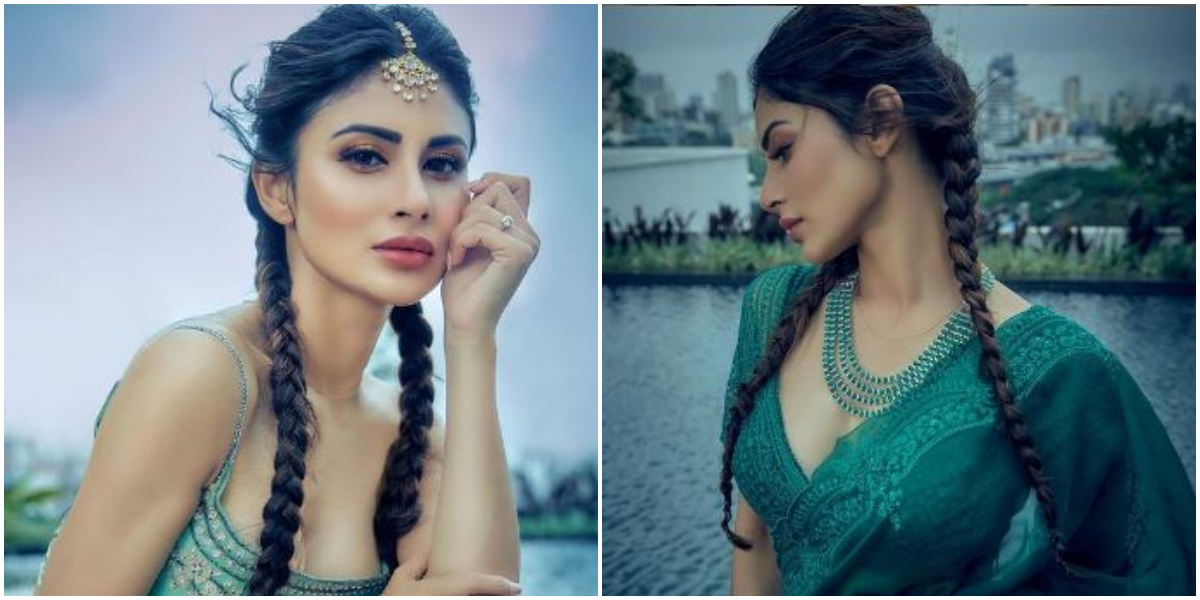 Mouni Roy brings two braid game to next level; Check it out