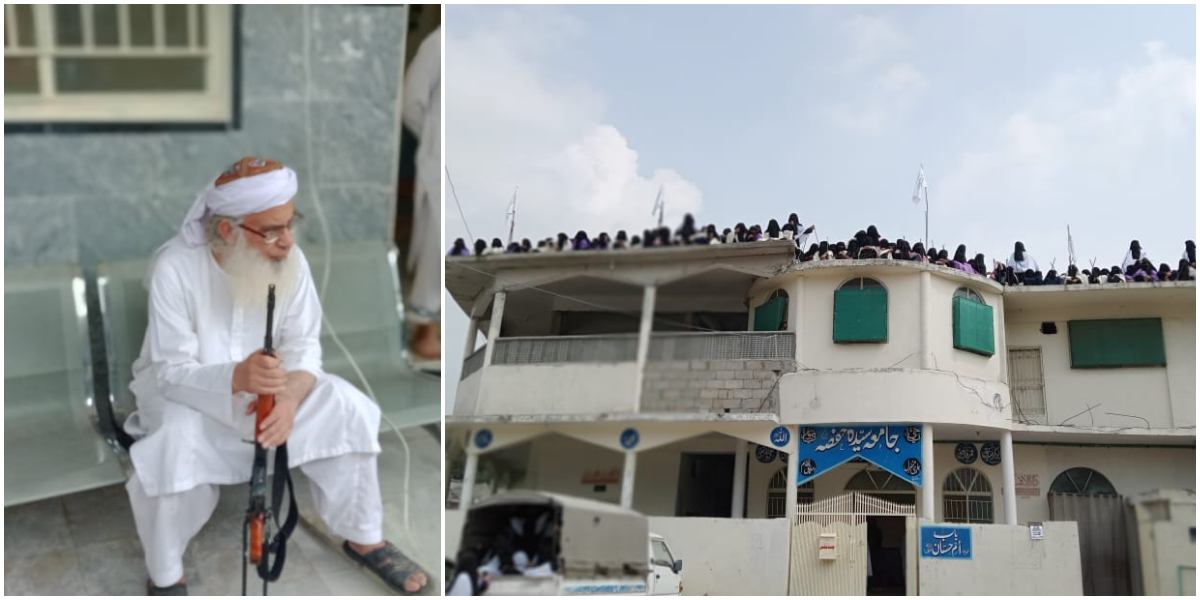 Islamabad Police reaches Jamia Hafsa to remove Taliban flag hoisted on rooftop