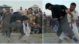 Grapple gangs: Afghan fighters seek glory on a dusty Kabul field