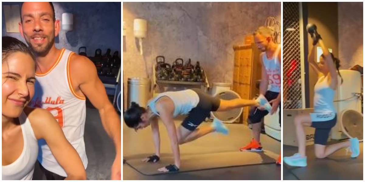 Katrina Kaif, her gym trainer show off their muscles in new IG video