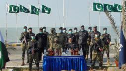 Pakistan Navy, Custom seize liquor in joint sea operation