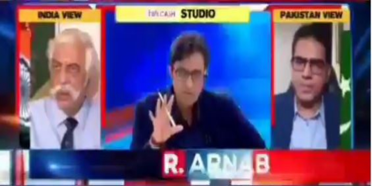 Pakistani Panelist catches Arnab Goswami's lies about Serena Hotel Afghanistan