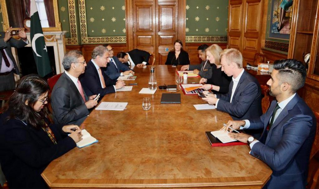 FM Qureshi UK Visit