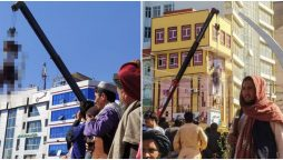 """Taliban hang bodies of kidnappers from cranes, call it """"Lesson"""" on kidnappings"""