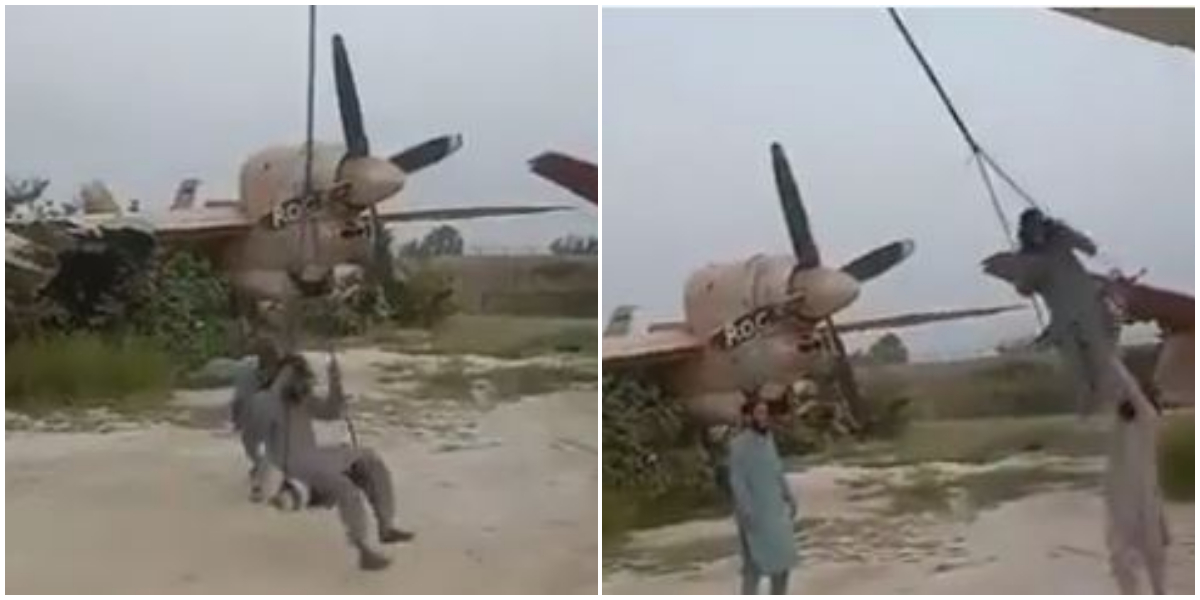 Taliban enjoying 'Heli- swings' on expensive military helicopters; Watch video