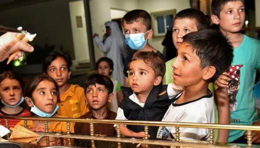 afghan children in qatar