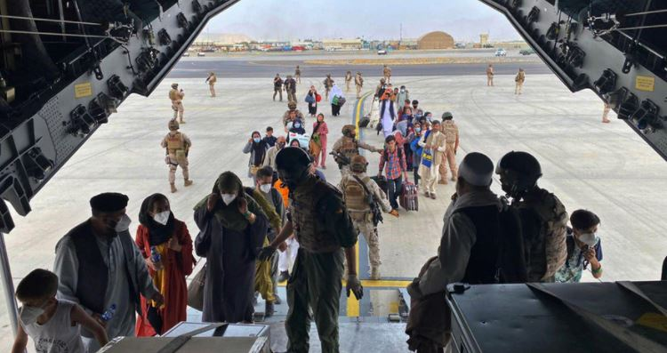 afghans on airport
