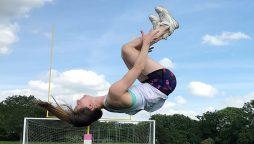 British scientist breaks two gymnastics World Records