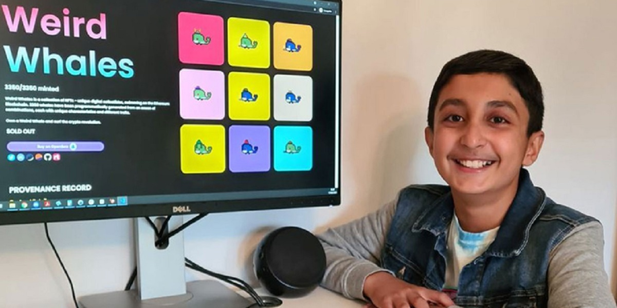 12 year old youngster earns £250,000 by selling a number of whale emojis
