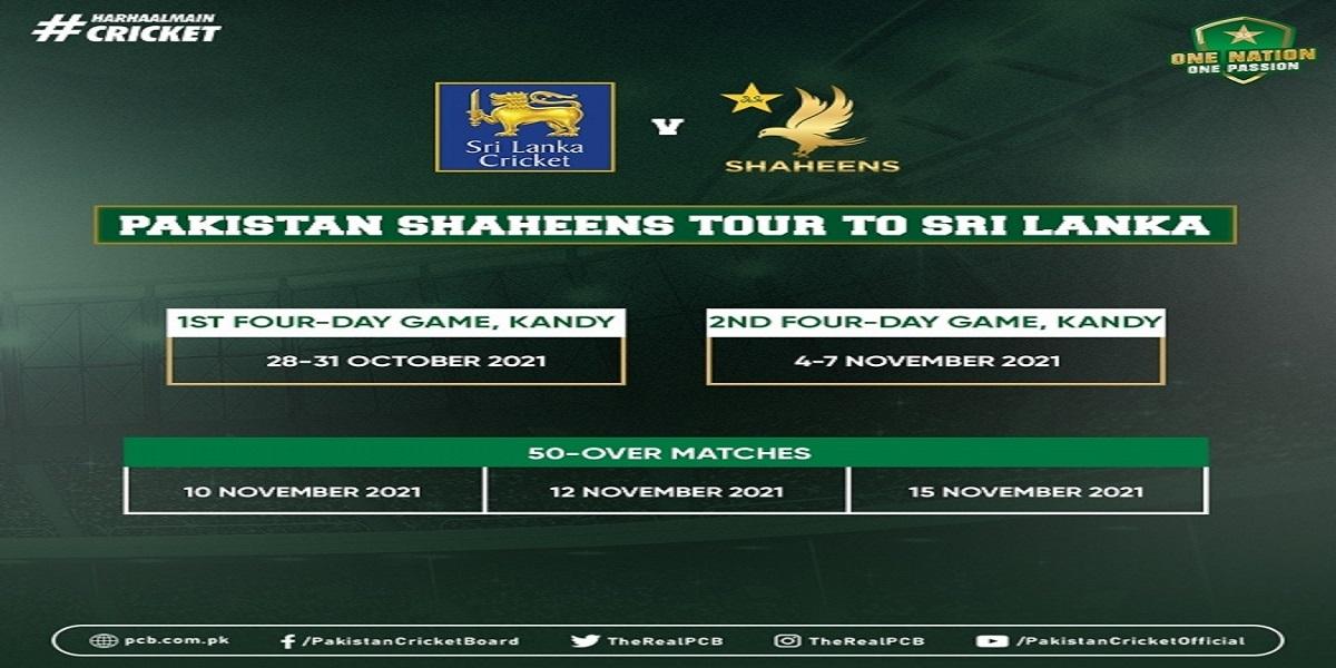 Pakistan Shaheens to tour Sri Lanka from Oct 28 to Nov 15
